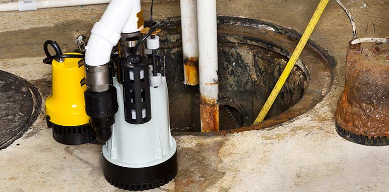 sump pump repair and replacement services