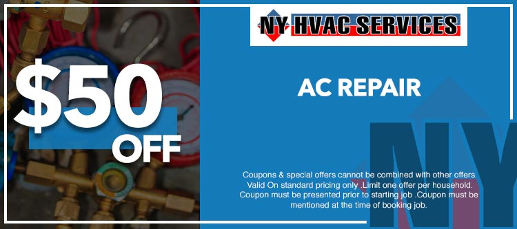 discount on air conditioner repair service in Manhattan, NY
