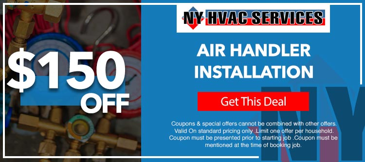 discount on air handler installation in Manhattan, NY