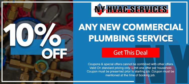 discount on commercial plumbing services in Queens, NY