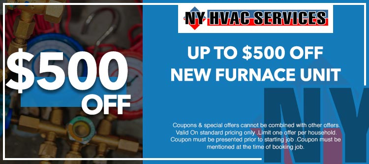 discount on furnace unit installation in Manhattan, NY
