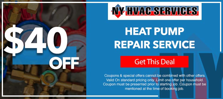discount on heat pump services in Manhattan, NY