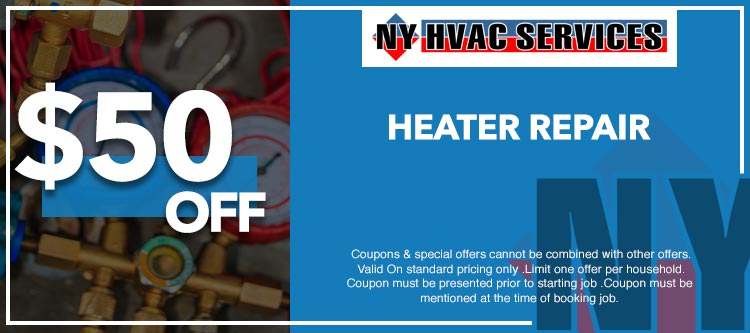discount on heater repair in Manhattan, NY