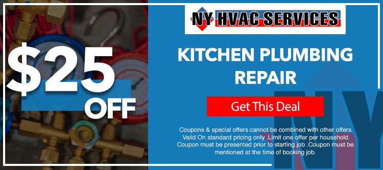 discount on kitchen plumbing repair in Manhattan, NY