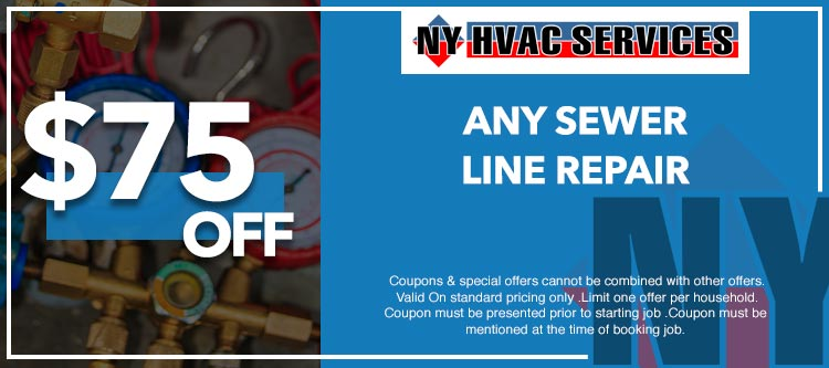 discount on sewer line repair job in Manhattan, NY