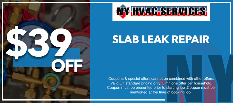 discount on any  slab leak repair in Manhattan, NY