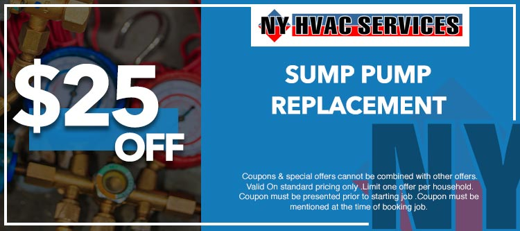 discount on sump pump services in Manhattan, NY
