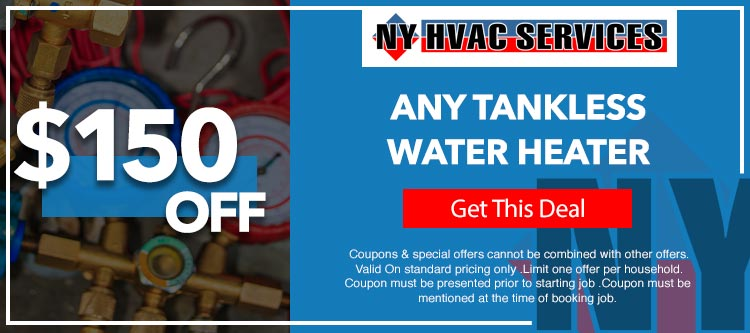 discount on tankless water heater in Brooklyn, NY