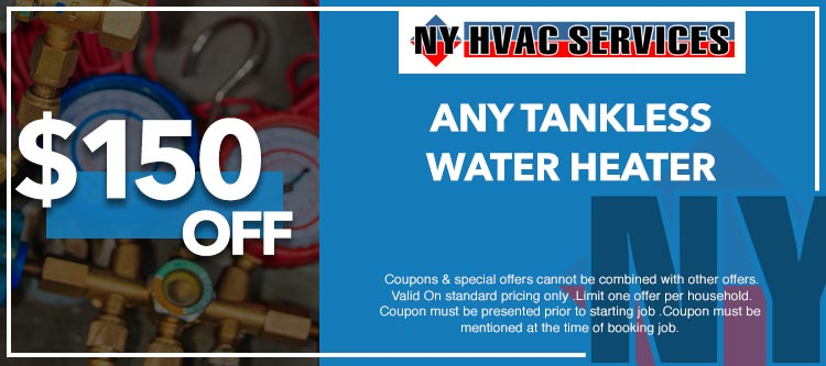 discount on tankless water heater in Manhattan, NY
