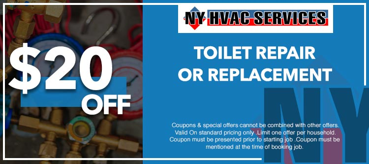 discount on toilet repair or replacement in Manhattan, NY