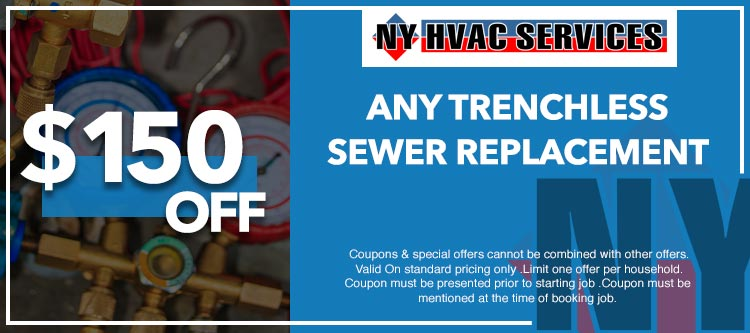 discount on trenchless sewer replacement in Manhattan, NY