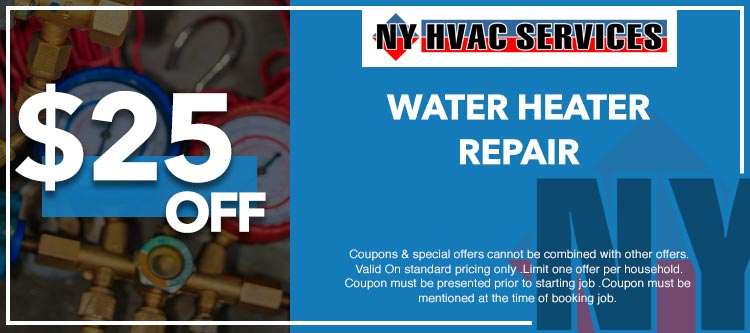 discount on water heater repair in Manhattan, NY